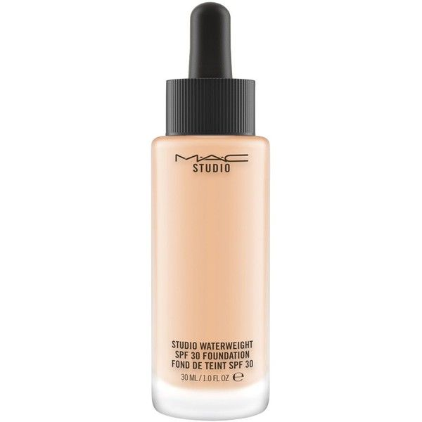 MAC Studio Waterweight Spf 30 Foundation ($33) ❤ liked on Polyvore featuring beauty products, makeup, face makeup, foundation, beauty, mac, nw, hydrating foundation, mac cosmetics and gel foundation