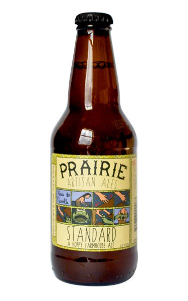 "Standard, a hoppy farmhouse ale ""is our everyday beer. It is a light, crisp farmhouse ale with a hoppy finish. This beer is dry hopped with Motueka hops, a lovely New Zealand hop with a spicy lime like flavor and aroma."" Prairie Artisan Ales, OK (12oz 5.6%) Dec 2016"