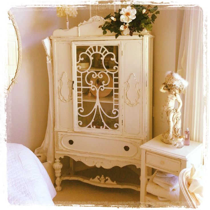 Beautiful vintage cabinet painted with cece caldwells for Cece caldwell kitchen cabinets
