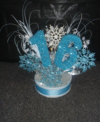 Winter Wonderland Centerpiece or cake topper for Sweet 16