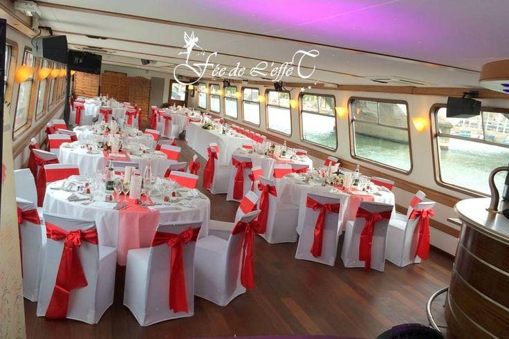 dcoration de mariage rouge thme canada pniche mlodie blues paris blues paris - Peniche Mariage Paris