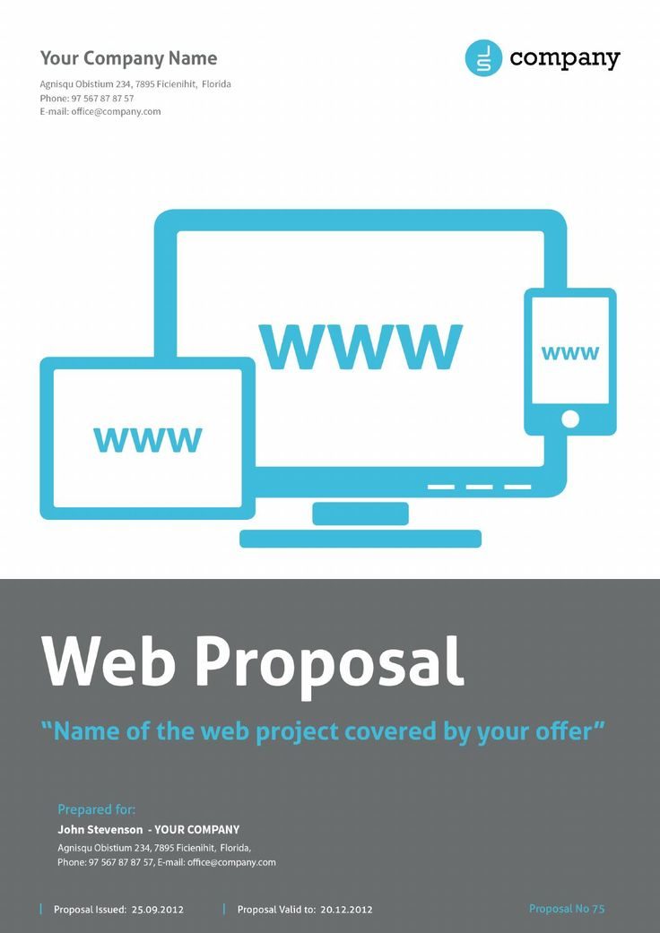 Web Proposal By Paulnomade  Proposals And Newspaper