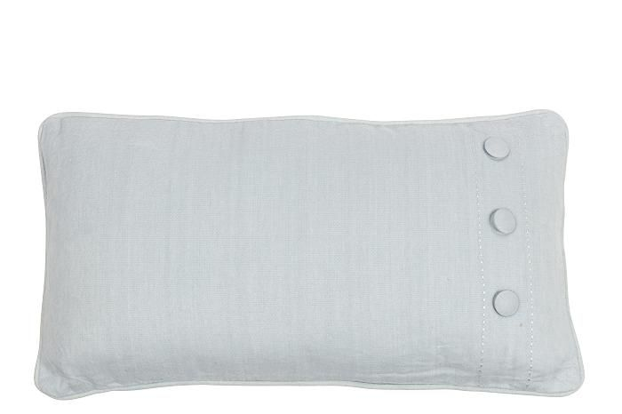 MrsBLOOM: Brushed Cotton Cushion Button old blue 60x30