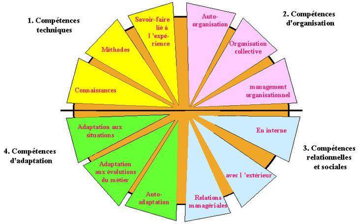 les 4 types de comp u00e9tences de la roue des comp u00e9tences de