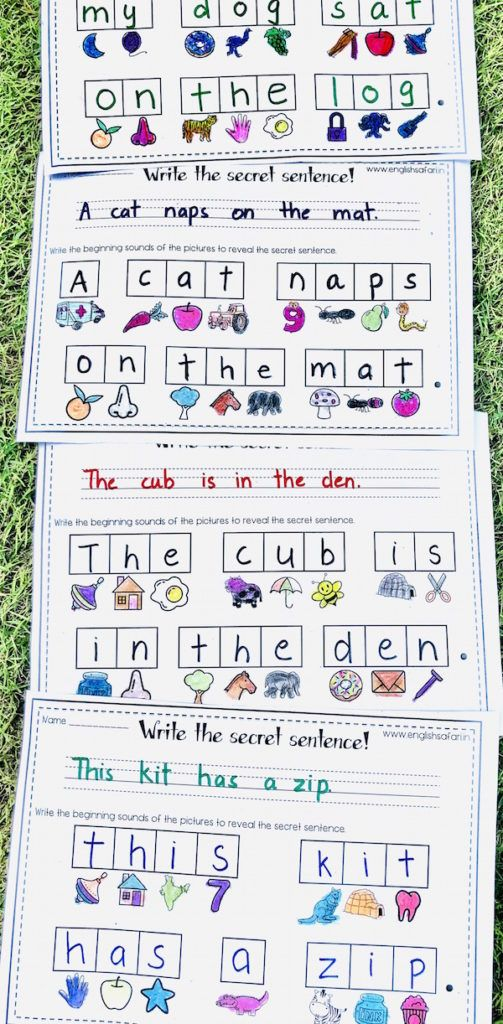 write a sentence worksheets for kindergarten FREE www in ...