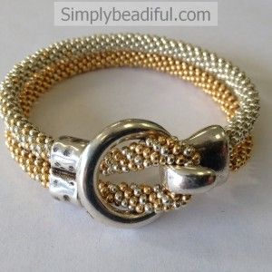 Metallic Kumihimo Hook Bracelet Kit