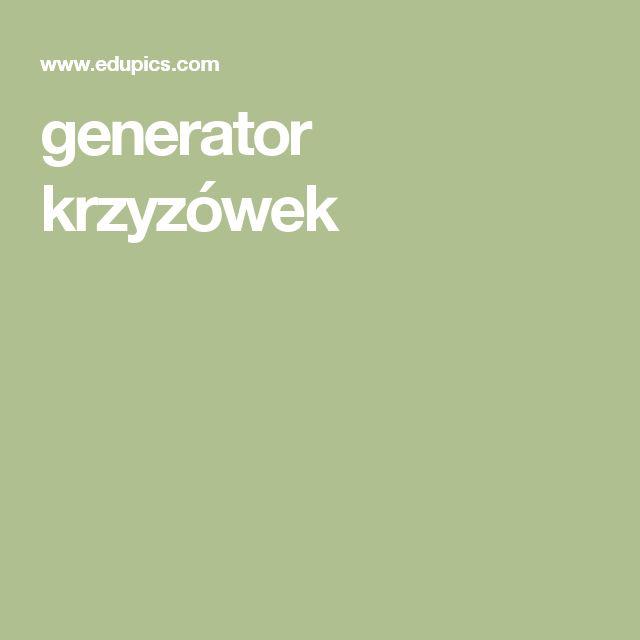 generator krzyzówek