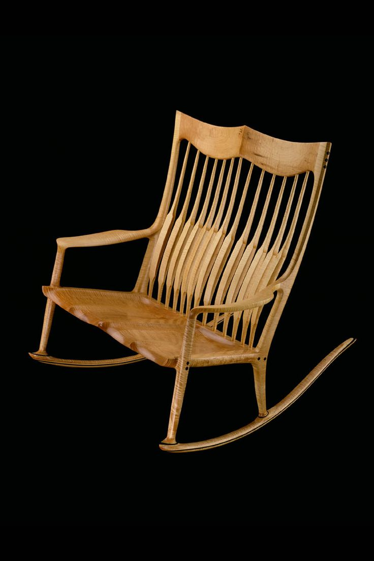 Double rocking chair by Sam Maloof. 1992 me and my BFF would enjoy this