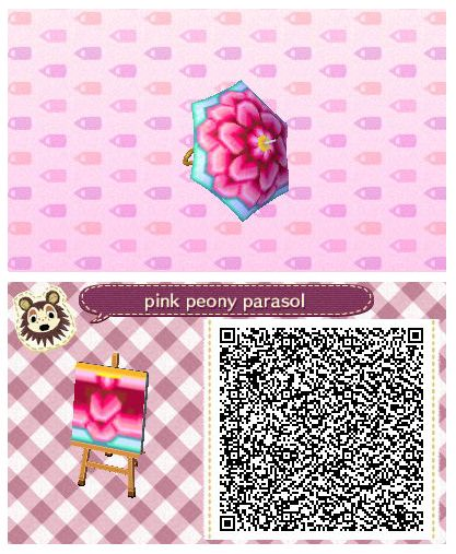 Pink Peony Parasol by Quirkberry - Animal Crossing: New Leaf