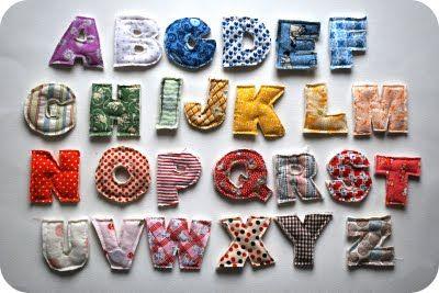 Tuto lettres en tissu