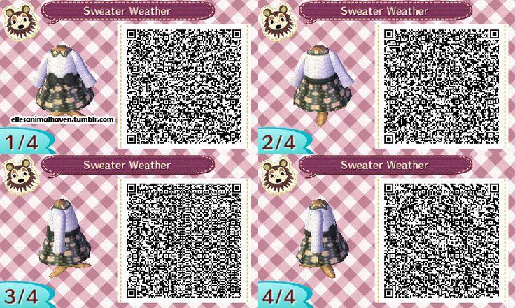 ACNL QR Code: Sweater Dress w/ Floral Skirt                                                                                                                                                                                 More