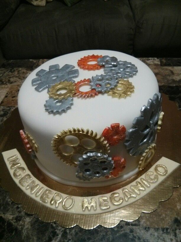 Engineering Party Ideas : Mechanical engineering cake my cakes pinterest