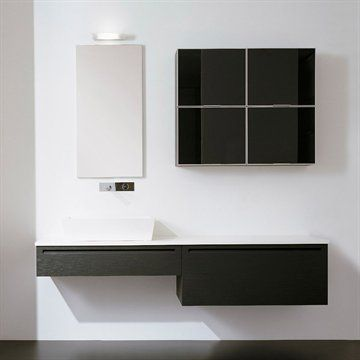 Badeværelsesmøbler Living 2170 i mørk Eg