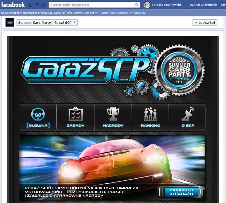 Konkurs na Facebooku dla imprezy Summer Cars Party, który oprogramowaliśmy. Konkurs fotograficzny z pełną obsługą Open Graph.