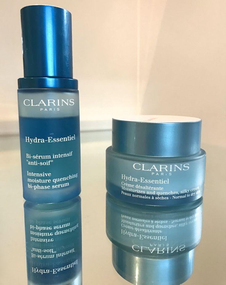 clarins hydra essentiel range best skincare for dehydrated skin
