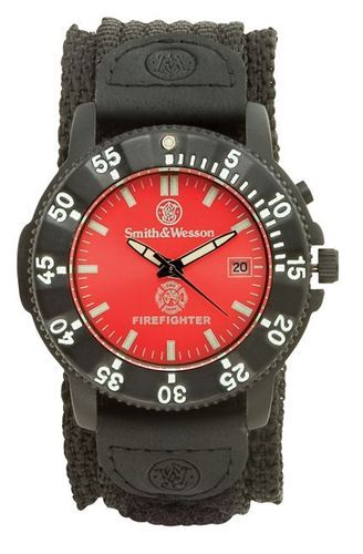 Smith Wesson Fire Fighter Wrist Watch Red Face EMT Rescue Paramedic Inspector 024718145594 | eBay