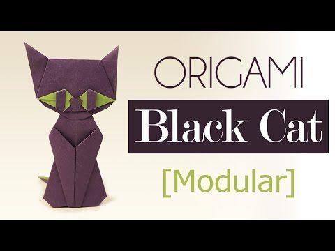 Modular Origami - Halloween Cat Video Tutorial - Paper Kawaii