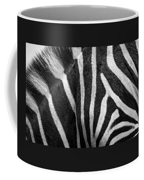 Zebra Coffee Mug featuring the photograph Zebra Stripes by Racheal Christian