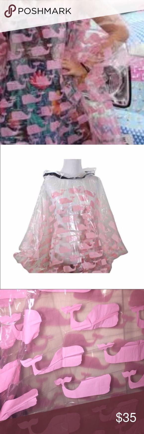 Vineyard Vines Rain Poncho Plastic poncho with pink whale print- NIB Vineyard Vines Jackets & Coats Capes