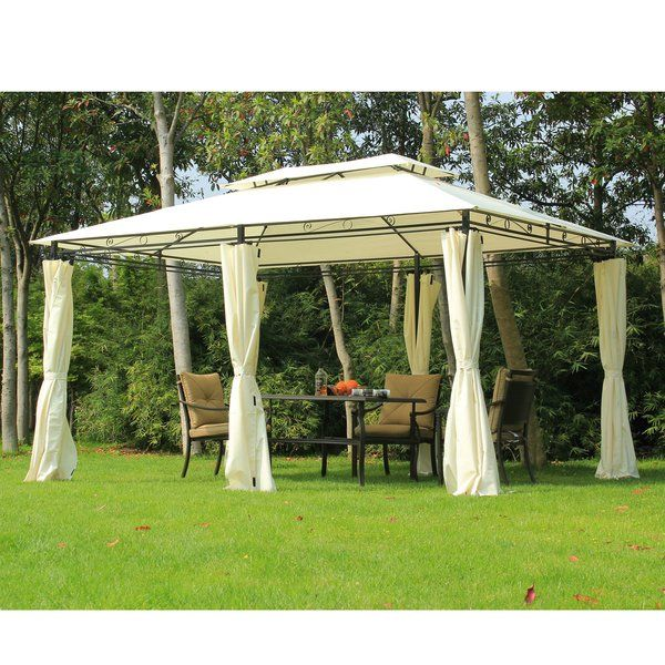 13 1 Ft W X 9 8 Ft D Steel Patio Gazebo Canopy Diy Gazebo Portable Gazebo Patio Gazebo