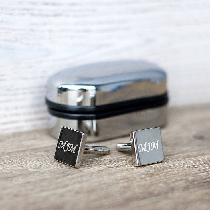 Silver Personalised Cufflinks And Box from notonthehighstreet.com