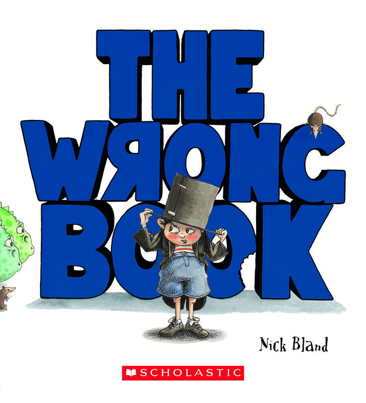 """The wrong book"" by Nick Bland. This iPad book app available through Wheelbarrow PTY/LTD has many interactive features that complement this wonderful story"