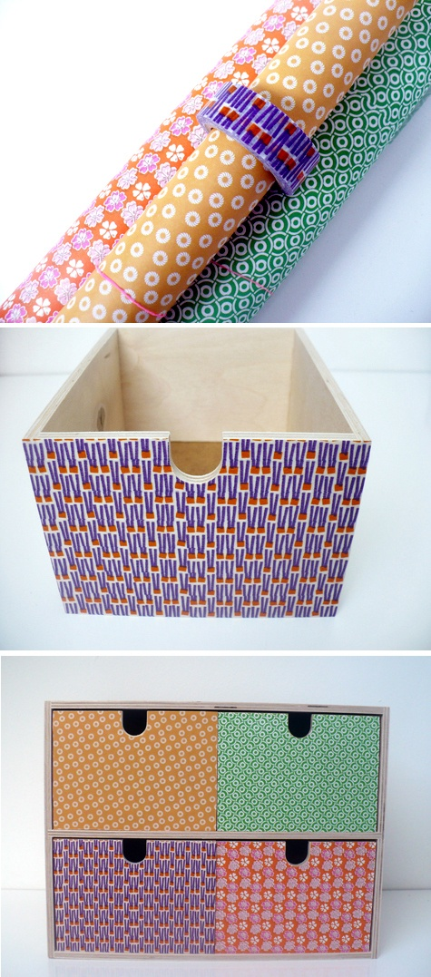 upgraded ikea moppe mini drawer / diy / paper / masking tape