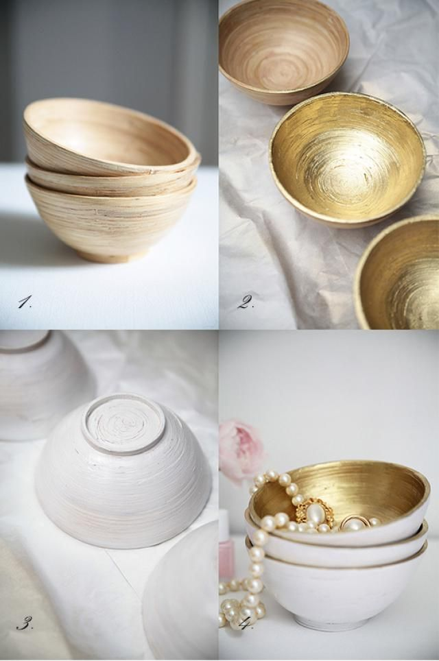 Best Spray Paint Crafts: Metallic nesting bowls