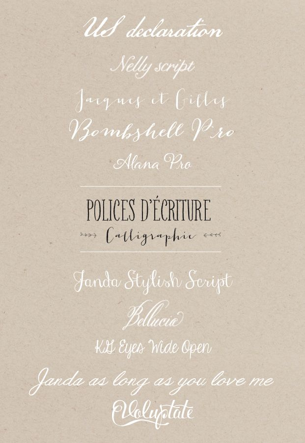 polices d ecriture - mariage