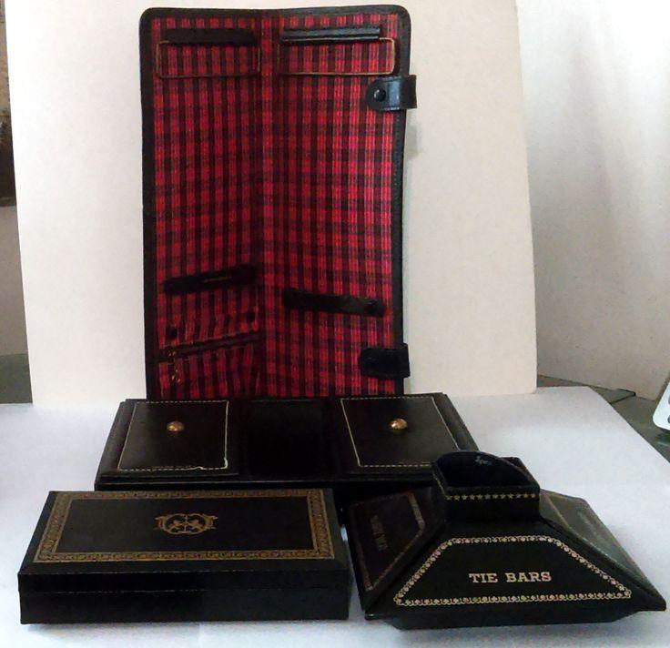 Vintage 1960's Swank Philippe Jewelry Box, Dresser Valet ,Travel Tie Holder…