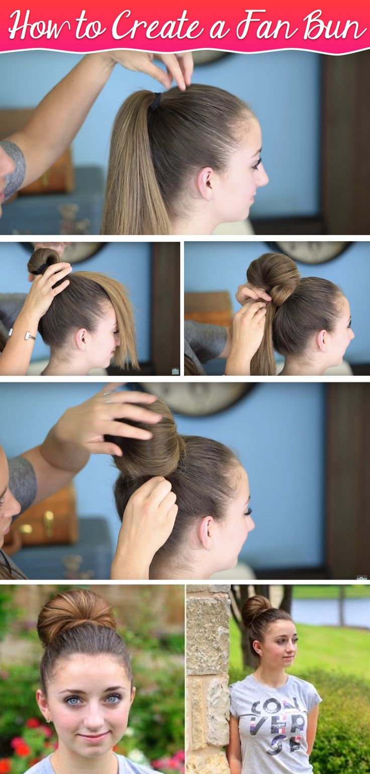 This Quick And Troublefree Fan Bun Updo Is All About Graceful Perfection!