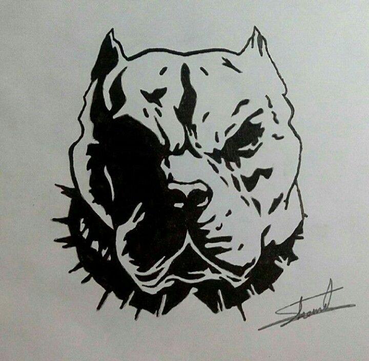 Mad Dog Art Artist Draw Drawing Drawings Dog Pitbull Angry