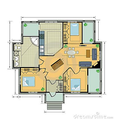 σχέδιο εξοχικών σπιτιών χρώ&mu