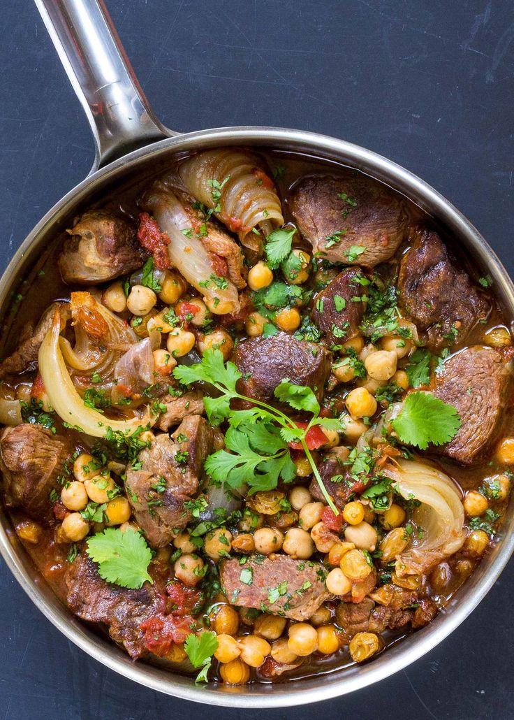 Spicy Lamb Stew with Chickpeas Recipe | SimplyRecipes.com