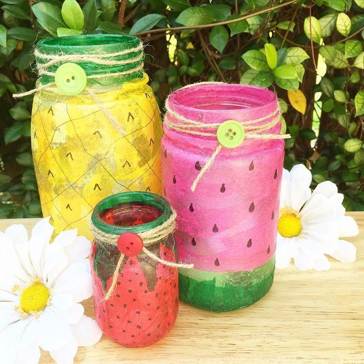 257 best diy decor images on pinterest - Decorative fruit jars ...