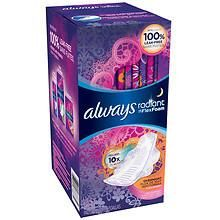 Always Radiant Pads With Wings Overnight at Walgreens. Get free shipping at $35 and view promotions and reviews for Always Radiant Pads With Wings Overnight