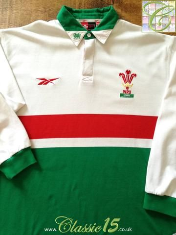 Official Reebok Wales away long sleeve rugby shirt from the 1999/2000 international season.
