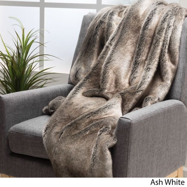 Chesterfield Sofa Christopher Knight Home Toscana Faux Fur Throw by Overstock