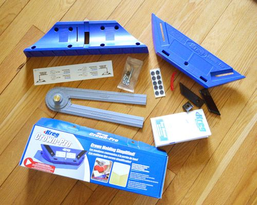 Young House Love - One young family + one old house = love. - Part 12. Must have tool for crown molding.  Also DYI instructions.