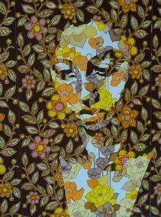 Esther in vintage wallpaper