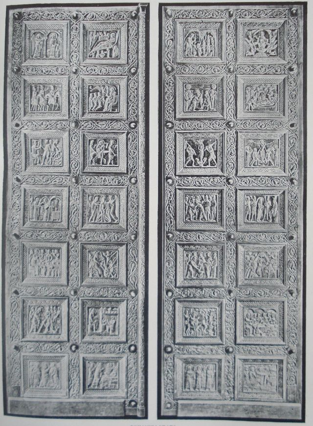 Wooden portal on the Cathedral of Sv. Dujam in Split   (Carved by) Andrija Buvina in c. 1214   Medieval Europe.