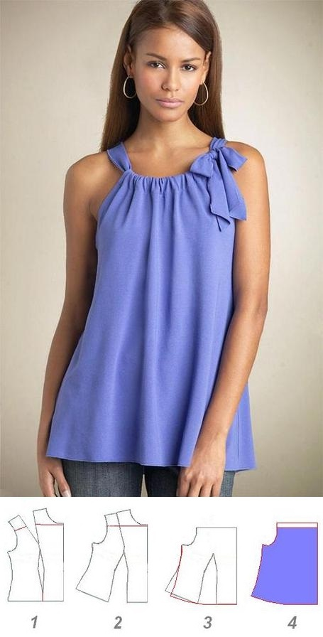 Blusa estilo pillowcase, con patrones.