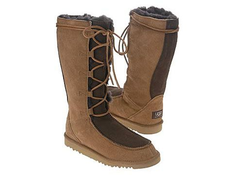 UGG Australia boots for sale. Awesome beautiful super rare two tone lace up UGG  boots for sale! Worn less than a handful of times, like new.