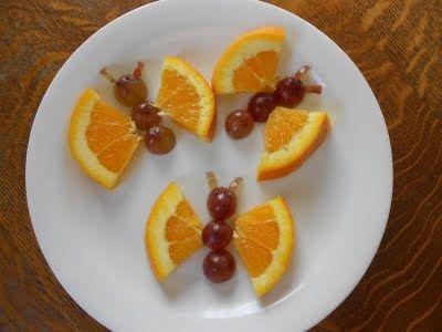 Orange slice butterflies    #foods #kids