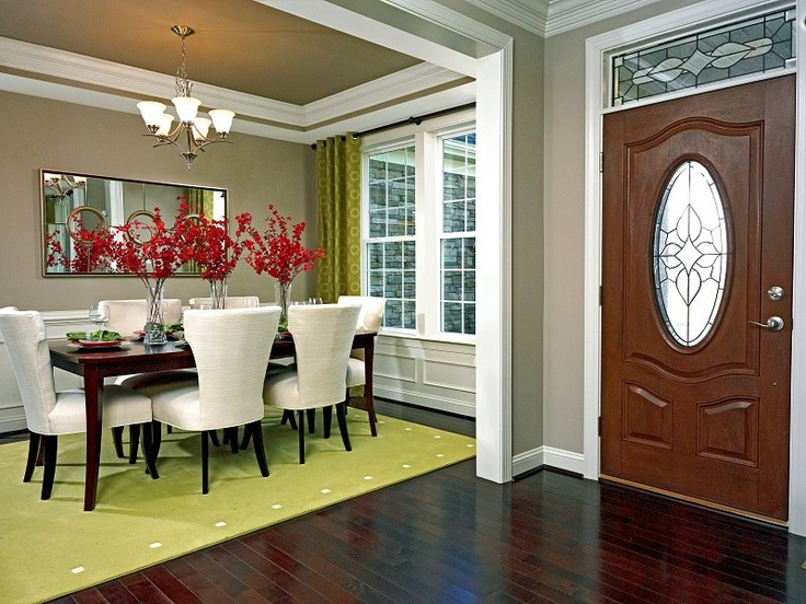 Elegant Dining Room Just Off The Beautifully Detailed Foyer