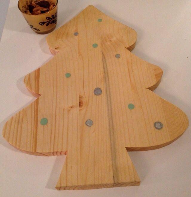 Vassoio in legno massello natalizio