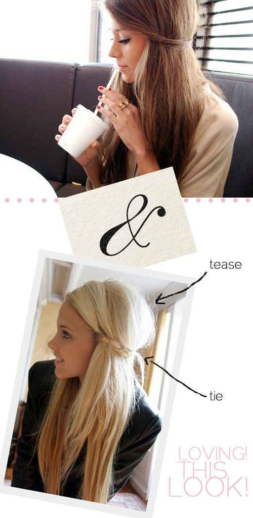 The Tease and Tie | 23 Five-Minute Hairstyles For Busy Mornings