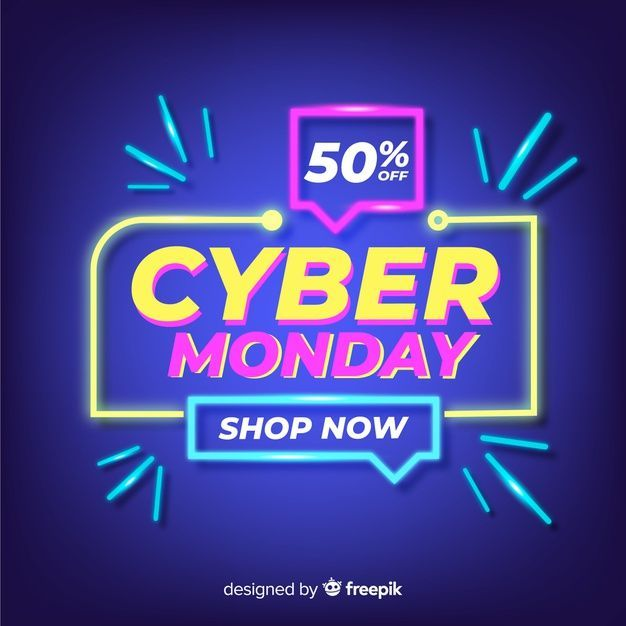 Free Download Cyber Monday Concept With Neon Design Cyber Lunedi Cybermondayconceptwithneondesign Download Free In 2020 Fb Banner Web Banner Neon Design