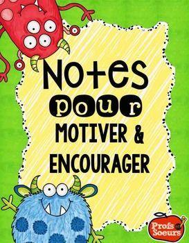 Mots d'encouragements pour la classe