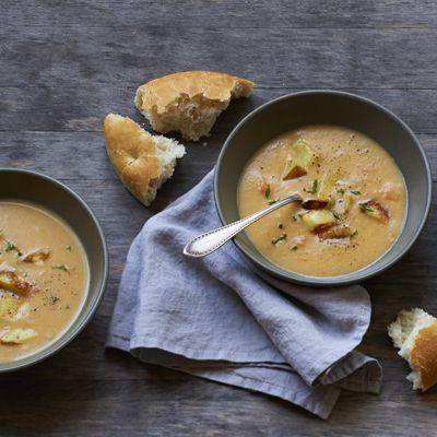 Roasted-Potato Cheddar SoupRoasted Potatoes Cheddar, Cheddar Soup ...